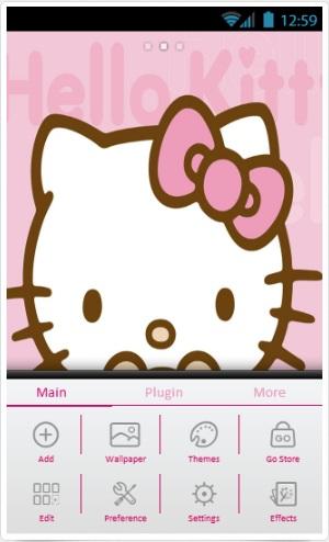 Hello kitty theme go launcher ex | samsung galaxy y themes.