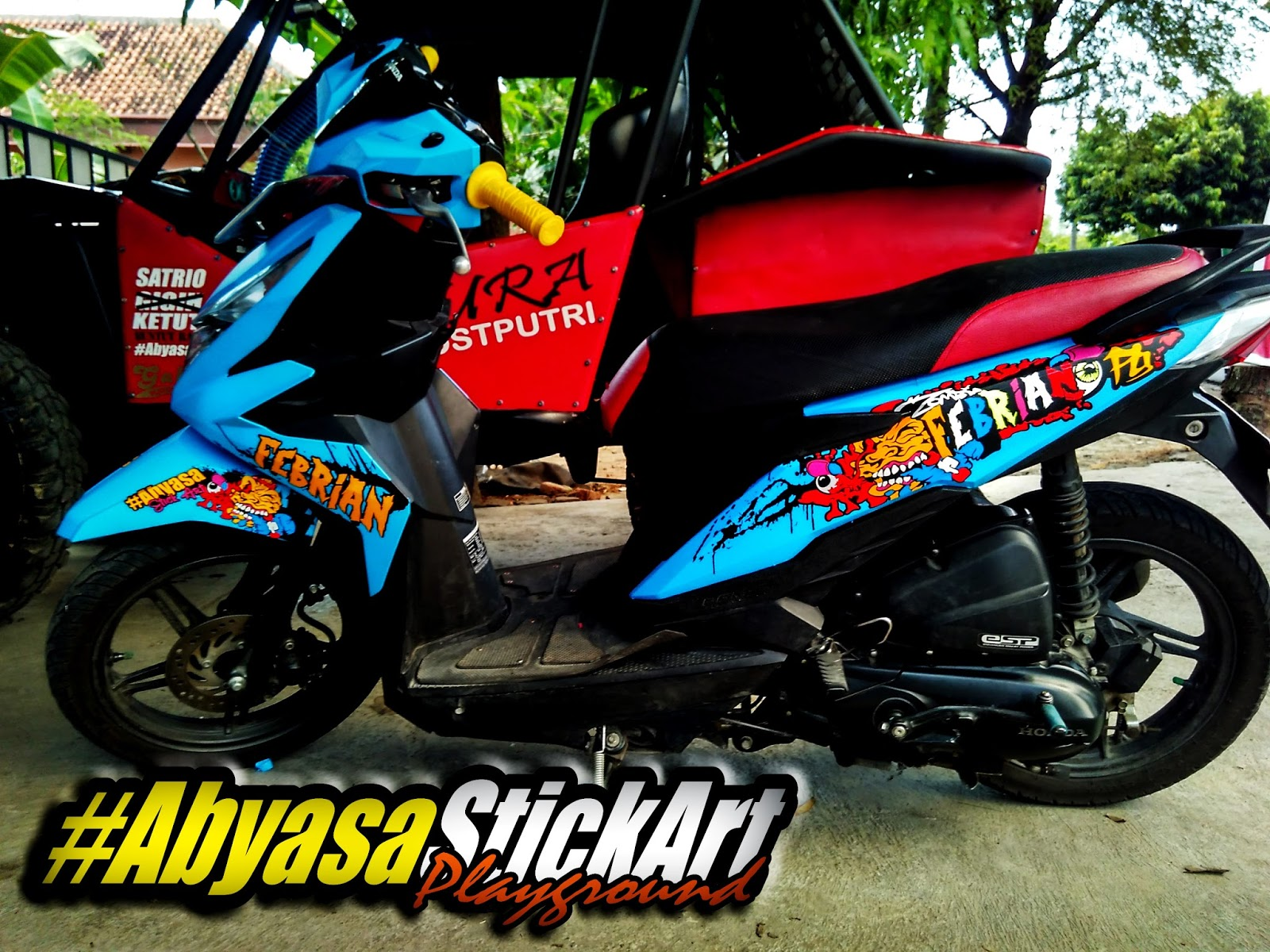 Foto Cutting Sticker Motor Beat 2018 Modif Sticker