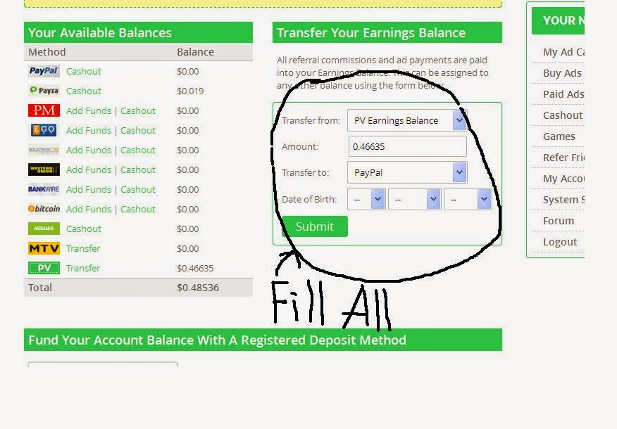 PAIDVERTS SUCCESS FORMULA: How to withdraw(Cashout) from Paidverts