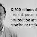 Rajoy reduce en 12.200 millones el presupuesto destinado a políticas activas de empleo