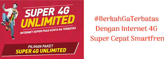#BerkahGaTerbatas Dengan Internet 4G Super Cepat Smartfren