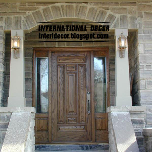 Classic Wood Doors Designs, Colors, Wood Doors With Glass Sides