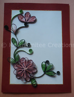 kalanirmitee:quilling-quilled flowers-cards