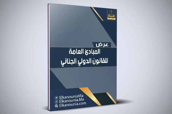 المبادئ العامة للقانون الدولي الجنائي PDF
