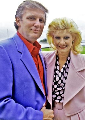Foto de Donald Trump feliz con su ex esposa