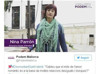 Podemos, San Valentín, Mallorca, Violencia de género, maltrato