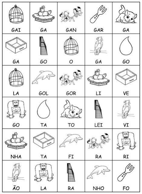 Formação de Palavras com Sílabas - Jogos Pedagógicos