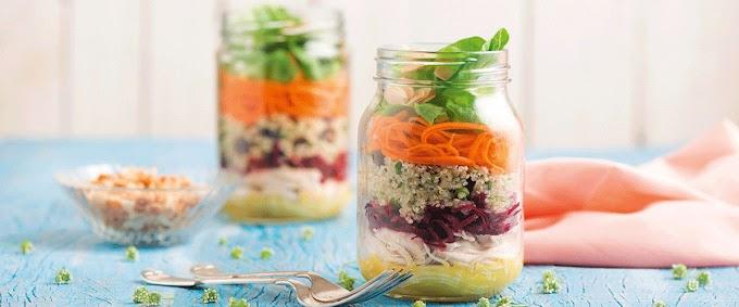 Salada De Quinoa Com Frango E Molho De Mostarda