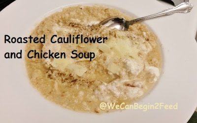 Roasted Cauliflower and Chicken Soup