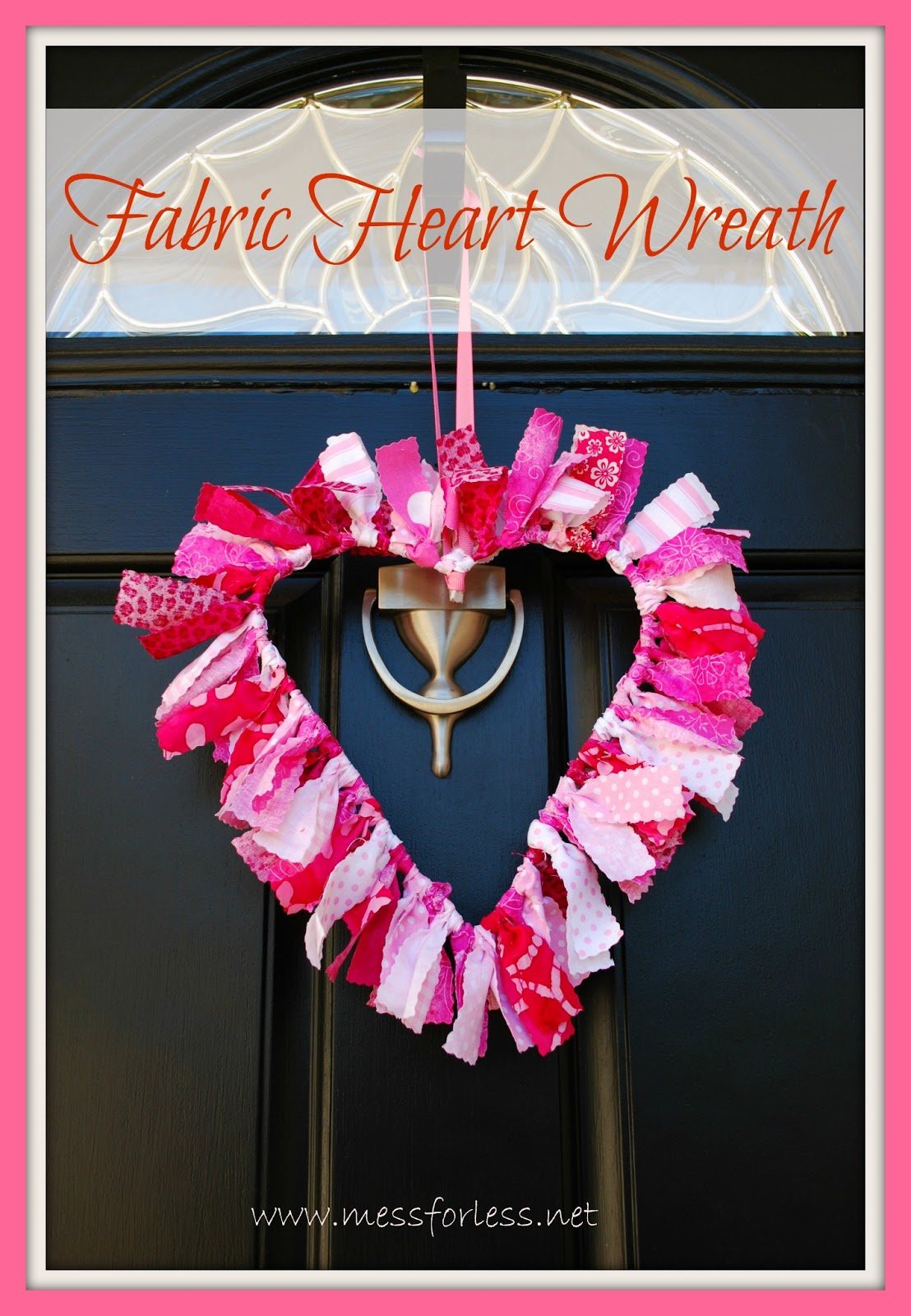 valentine decoration fabric wreath mommy blogs justmommies. Black Bedroom Furniture Sets. Home Design Ideas