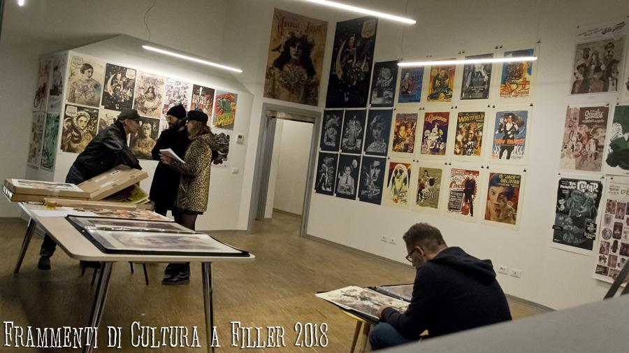 La sala delle esposizioni di Michel Casarramona e Martin Infanger a Filler 2018 presso il Santeria Social Club di Milano