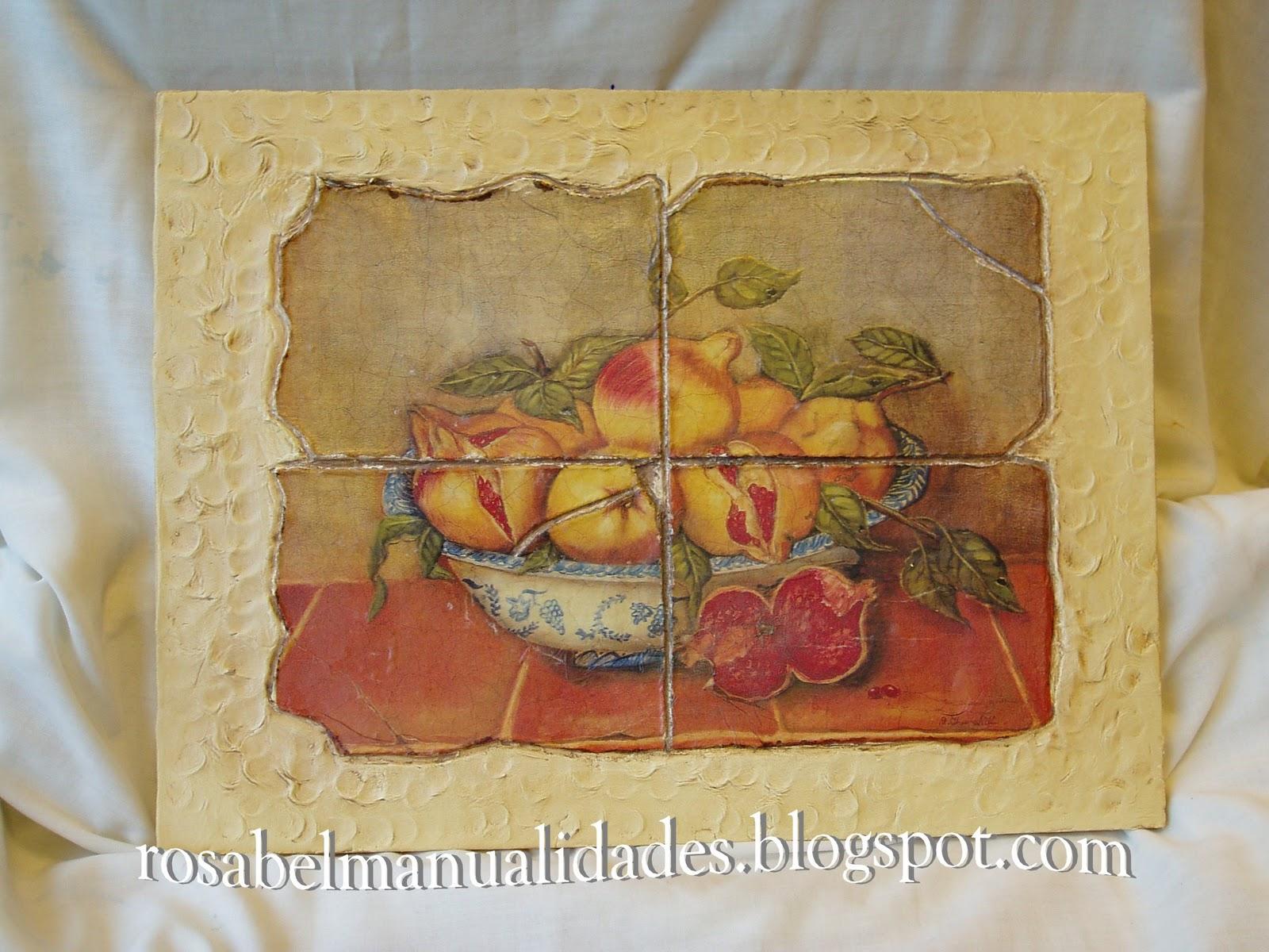 Rosabel manualidades cuadros para la cocina for Cuadros para cocina