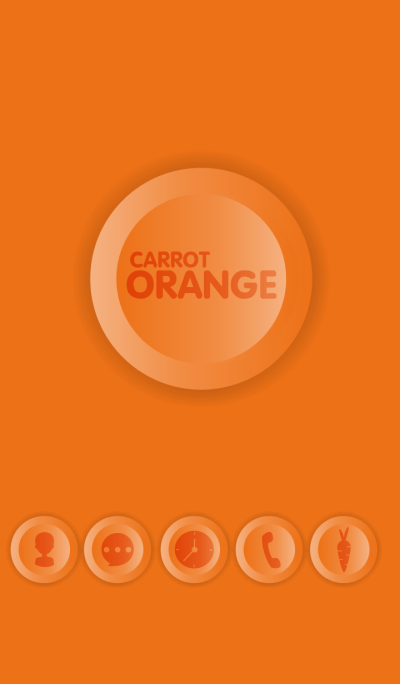 Simple Carrot Orange Button theme