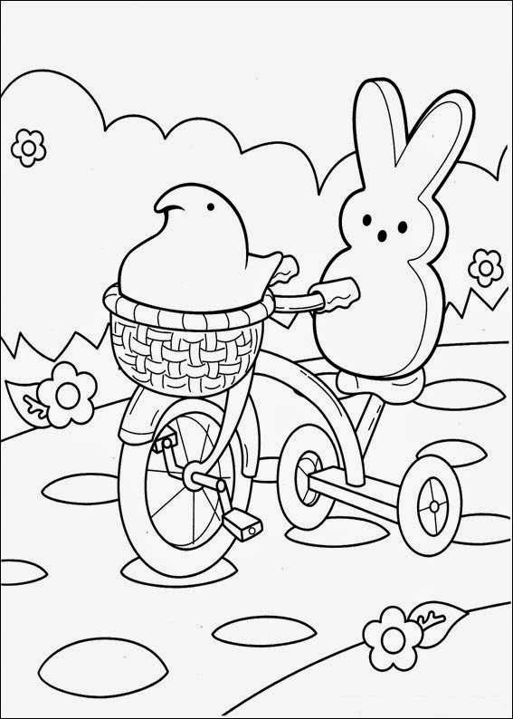 easter peeps coloring pages - photo#2