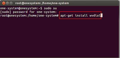 Menginstal wvdial linux Ubuntu