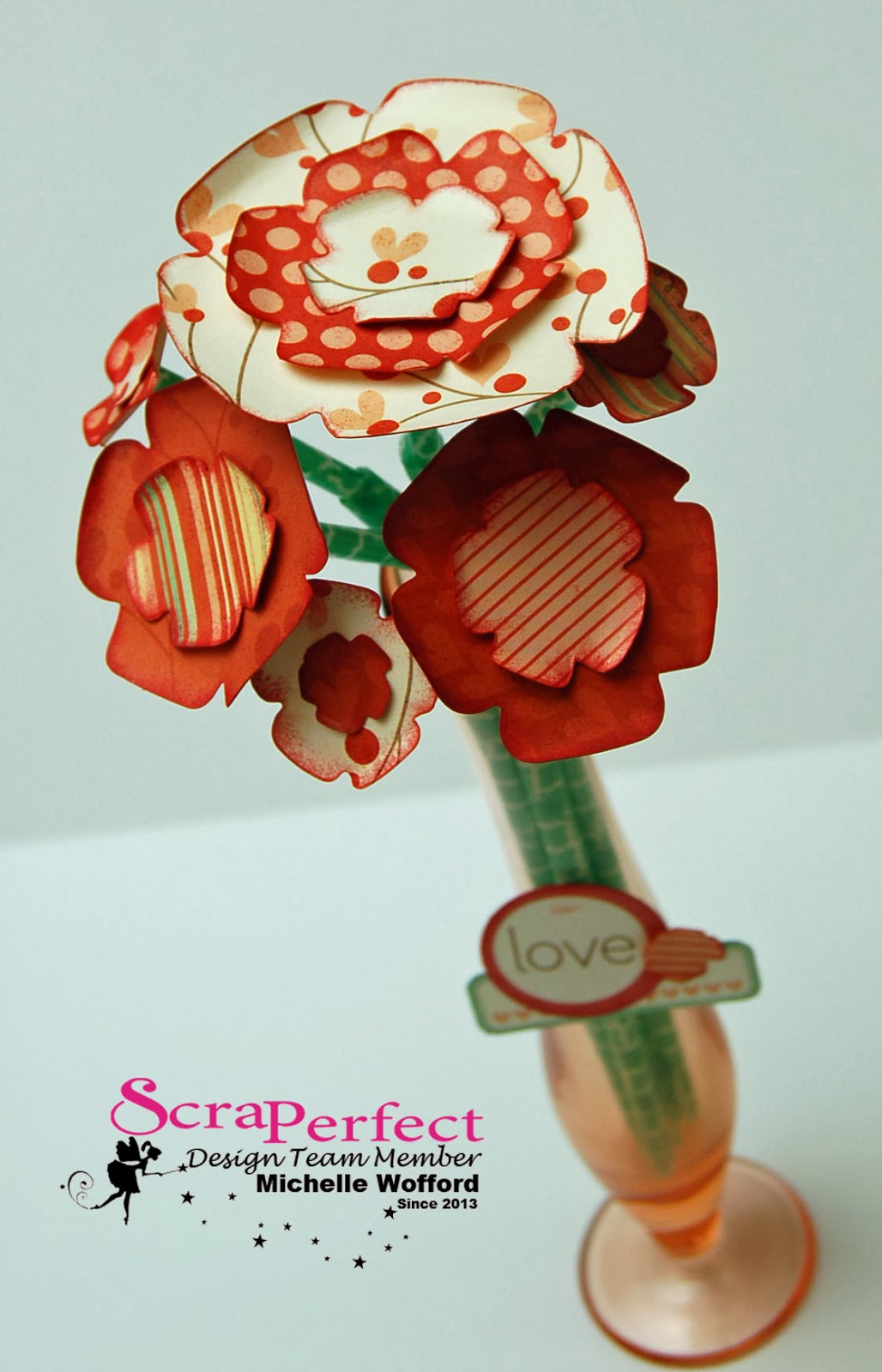 Scraperfect How To Make A Homemade Paper Flower Valentines Bouquet
