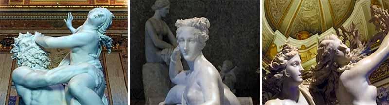 Caravaggio, Raffaello Canova, Bernini, sono solo alcuni dei nomi degli autori le cui opere sono esposte all'interno della Galleria, la cui raccolta iniziò intorno al 1600
