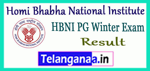 HBNI Homi Bhabha National Institute 1st 3rd Semester Winter Exam Result
