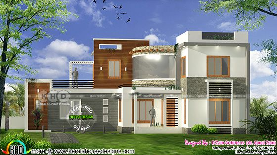 4 BHK modern contemporary home 1800 square feet
