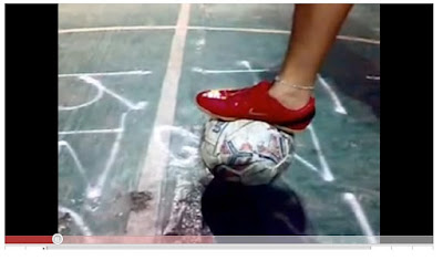 Golpeo con interior en el fútbol