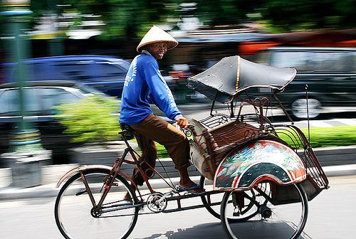 Image result for becak khas jogja