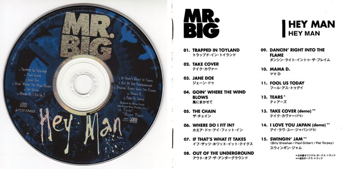 Mr. BIG - Hey Man [Japanese Remastered SHM-CD LTD Release +4] Out Of Print disc