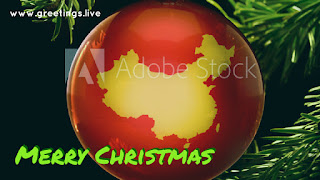 Christmas greetings with China Themes