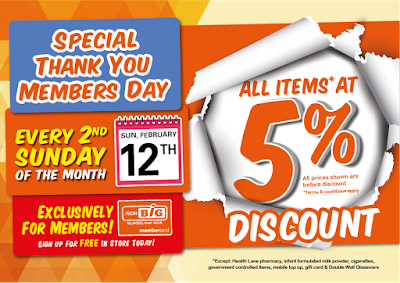 AEON BiG All Items 5% Discount Every 2nd Sunday of the Month