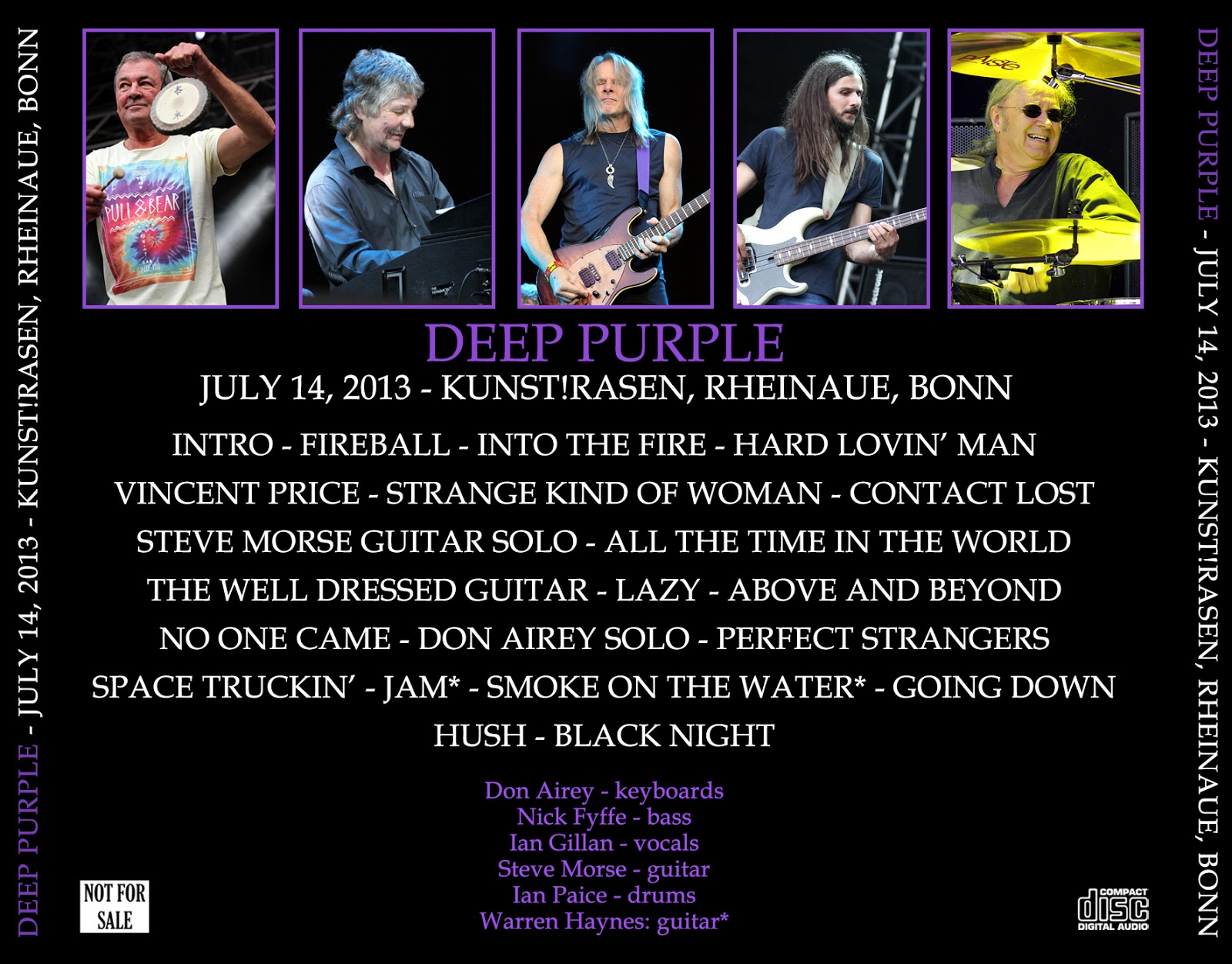 Deep Purple - 2013-07-14 - Bonn (with Warren Haynes) - Guitars101