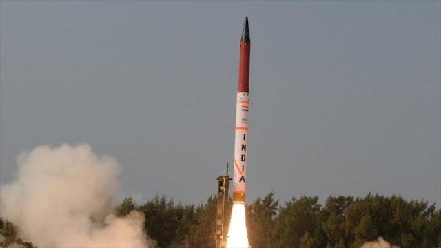 La India prueba con éxito un misil balístico con capacidad nuclear