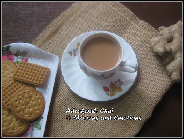 Ginger Tea / Indian style Ginger Tea / Adrakwali Chai