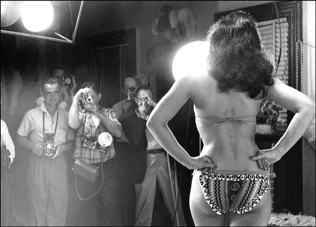 Bettie Page posing for camera club