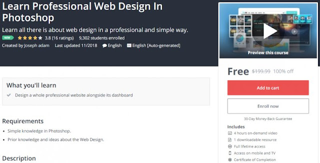 [100% Off] Learn Professional Web Design In Photoshop| Worth 199,99$