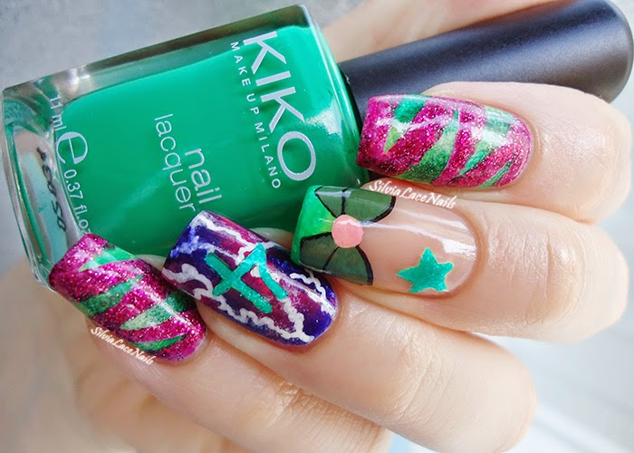 Sailor Jupiter Nail Art