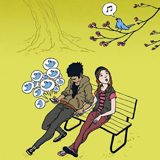 Saat twitter lebih penting dari kicauan burung asli