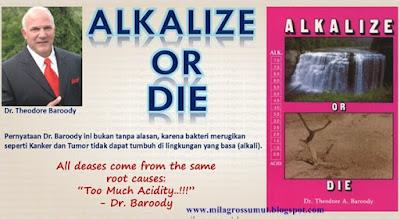 Dr. Theodore Baroody  mengatakan air alkali sangat bagus terhadap tubuh