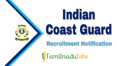 Indian Coast Guard Recruitment notification 2019, govt jobs for 12th pass