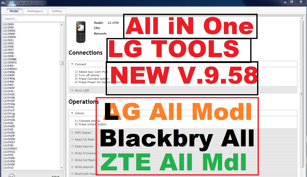 Z3X LG 2-3G Tool V9 58 Latest Download free - Gsm 1x