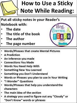 What to Do With Students Who Finish First: Using Sticky Notes for Reading Comprehension