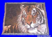 tiger blanket throw tapestry face
