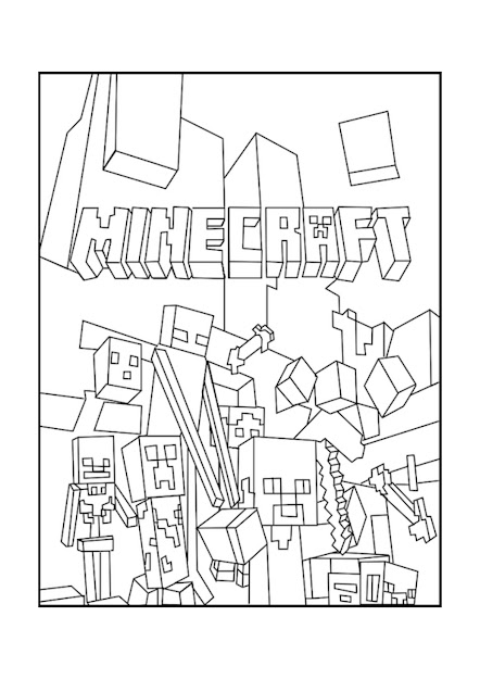 Best Minecraft Mobs Coloring Pages