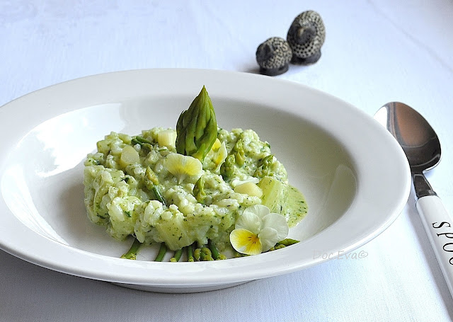 Spargelrisotto, Pesto