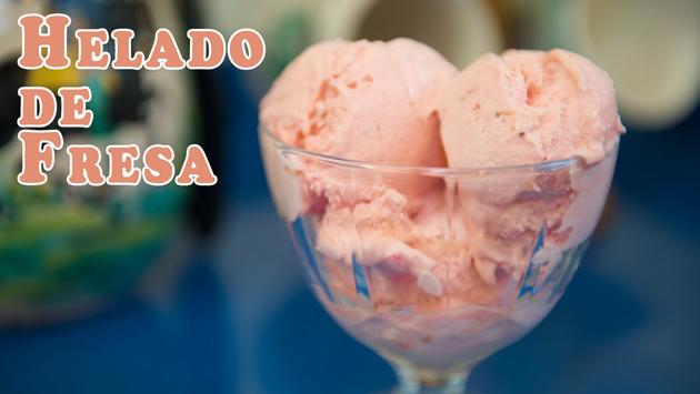helado de fresa clásico