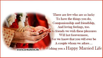 Quotes About Happy Marriage life: There are few who are so lucky to have the things you do,  companionship  and friendship, and loving feelings, too, as friends