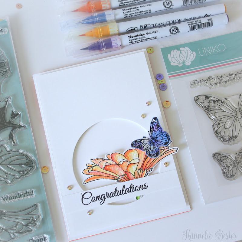 Uniko studio Gerbera stamp set - Hannelie Bester