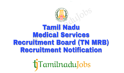 TN MRB Recruitment notification of 2018
