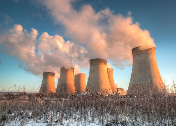 The pollution from power plants can cause damage to the nature