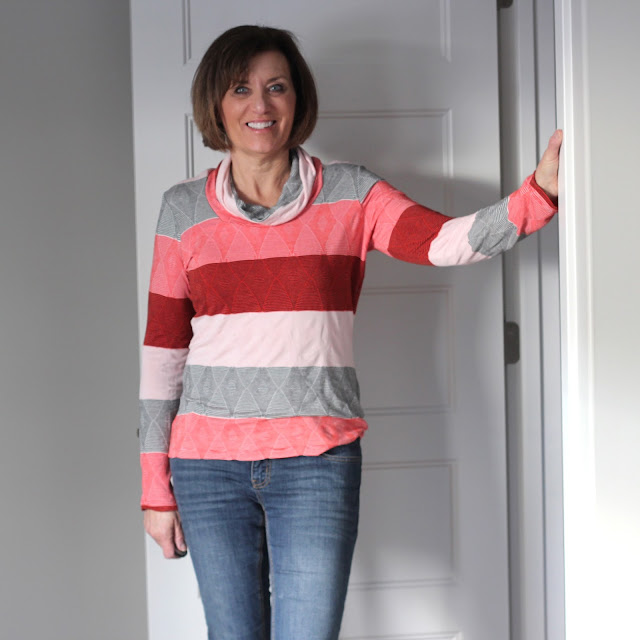 Angela Wolf's Ruched T made from Emma One Sock knit