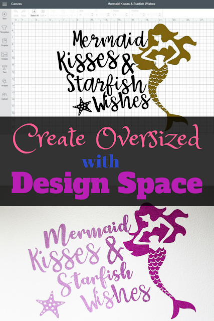How to create oversized images in Design Space when you have a 12 x 24 inch mat but an even larger vinyl or cut file you'd like to create with your Cricut machine.