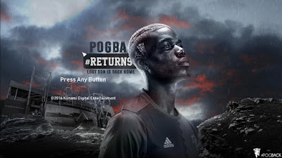 PES 2017 Paul Pogba (Man United) Start Screen by Leo05